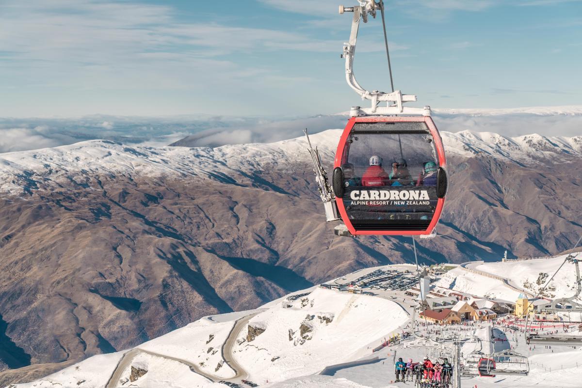 Cardrona Alpine Resort Chondola overlooking base building