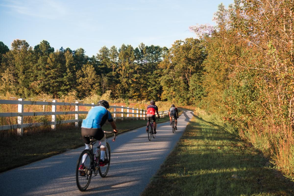 Neuse River Greenway Trail Cyclists Bikes