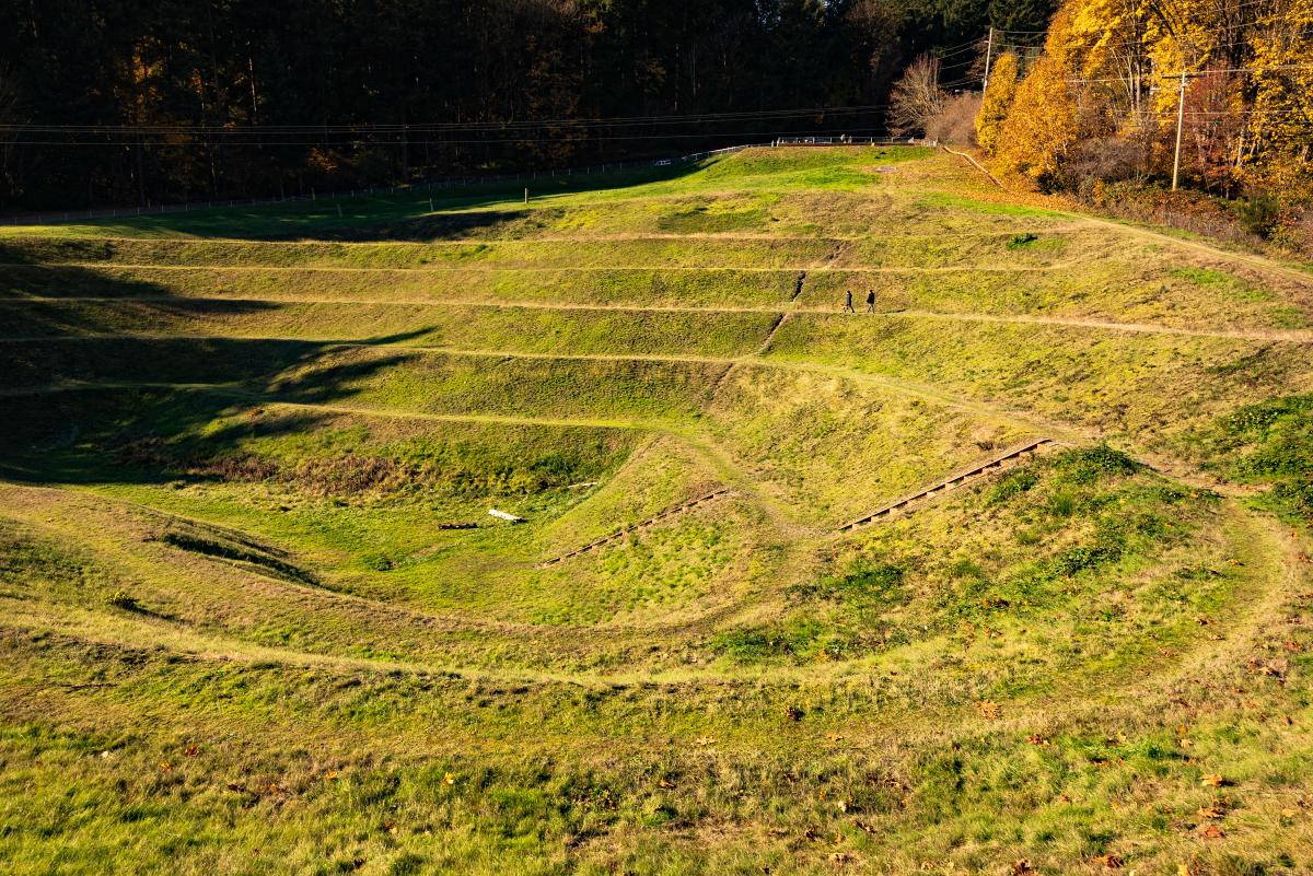 Robert Morris Earthwork at fall