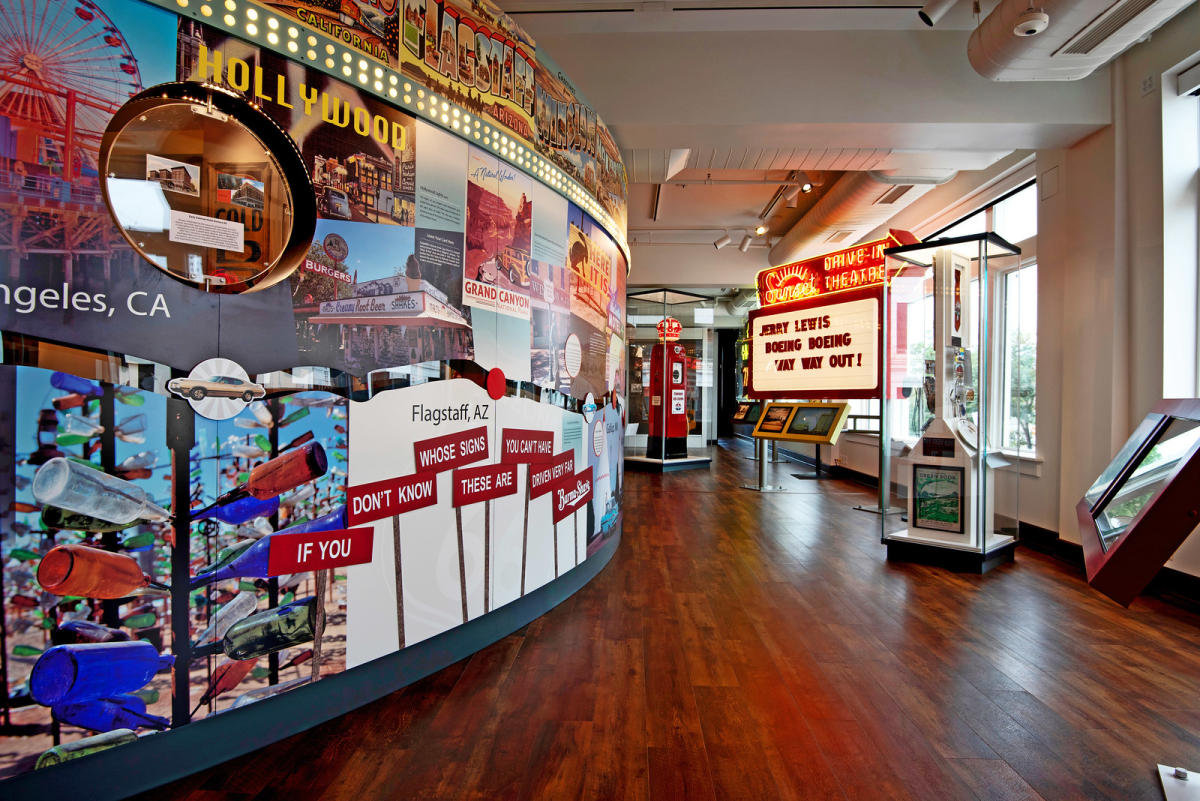 Route 66 section of History Museum on the Square