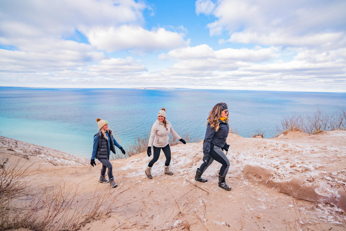 Hiking at Pyramid Point in the Sleeping Bear Dunes