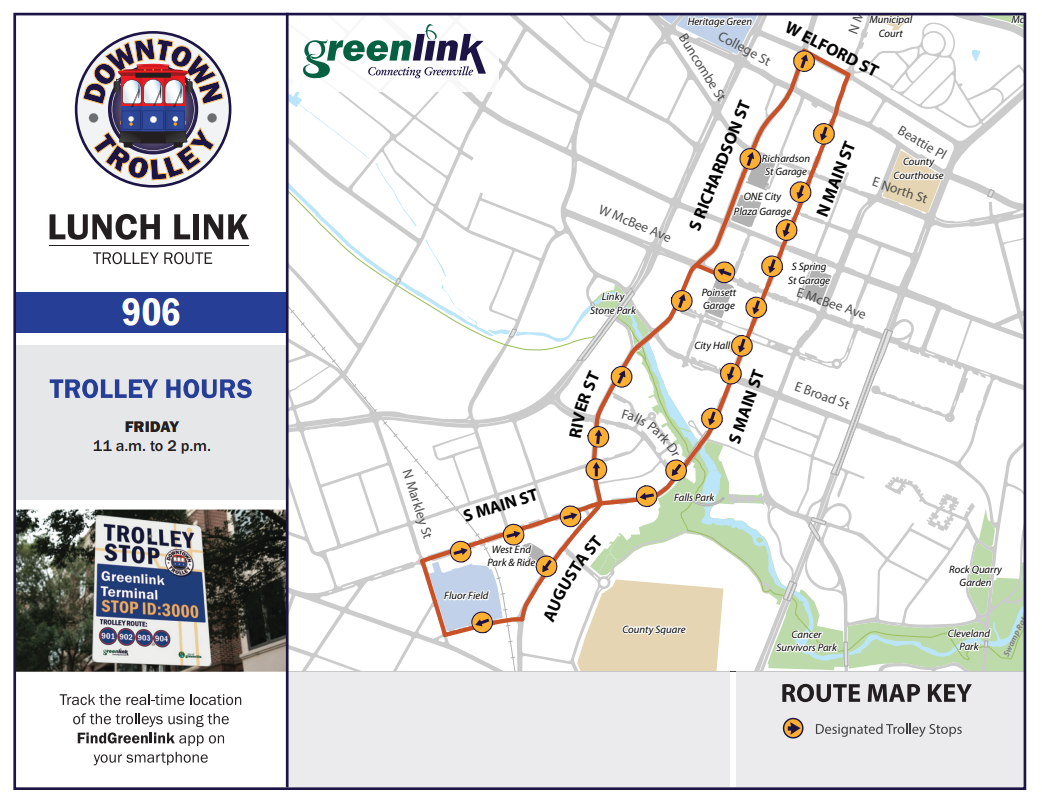 Lunch Link Trolley Route #906 - Screenshot