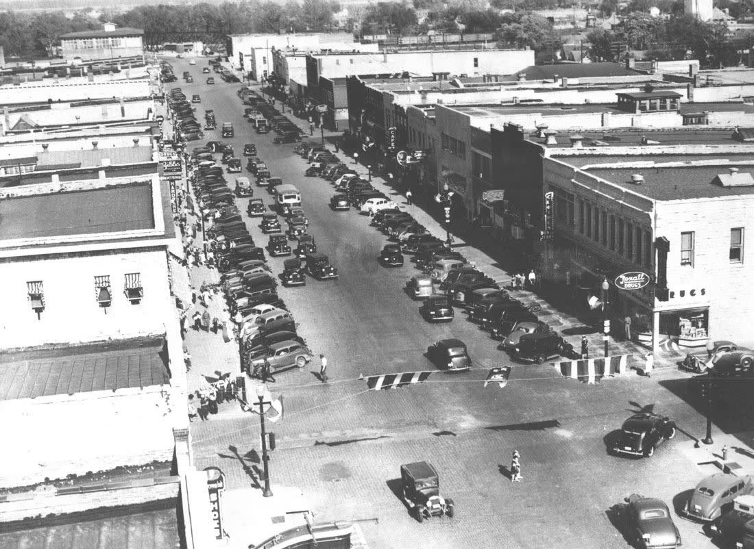 Historic aerial image