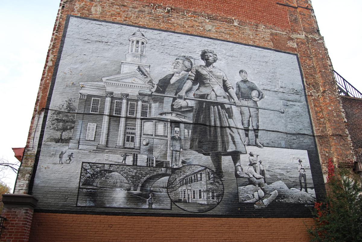Molly Pitcher Mural In Carlisle, PA