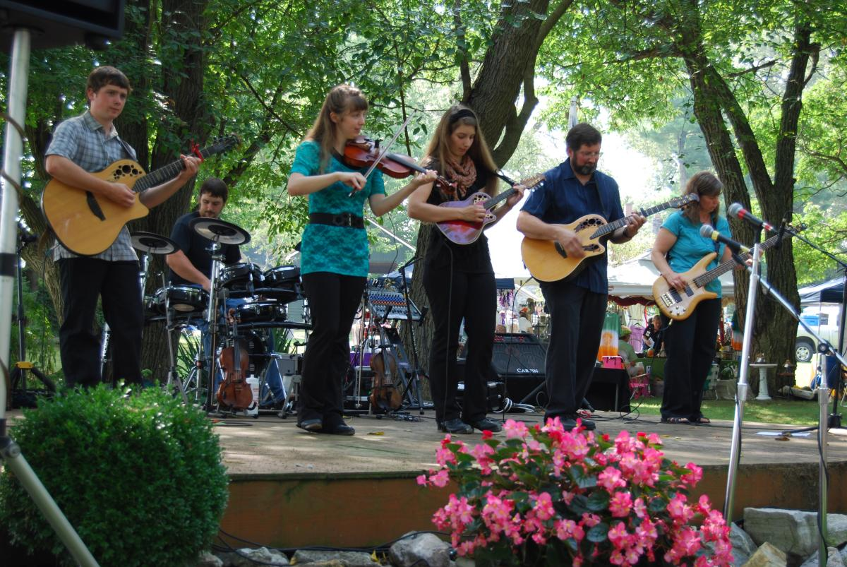 Band Playing At The McClain Celtic Festival In The Cumberland Valley