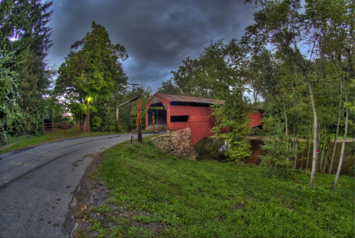 Ramp Covered Bridge In The Cumberland Valley