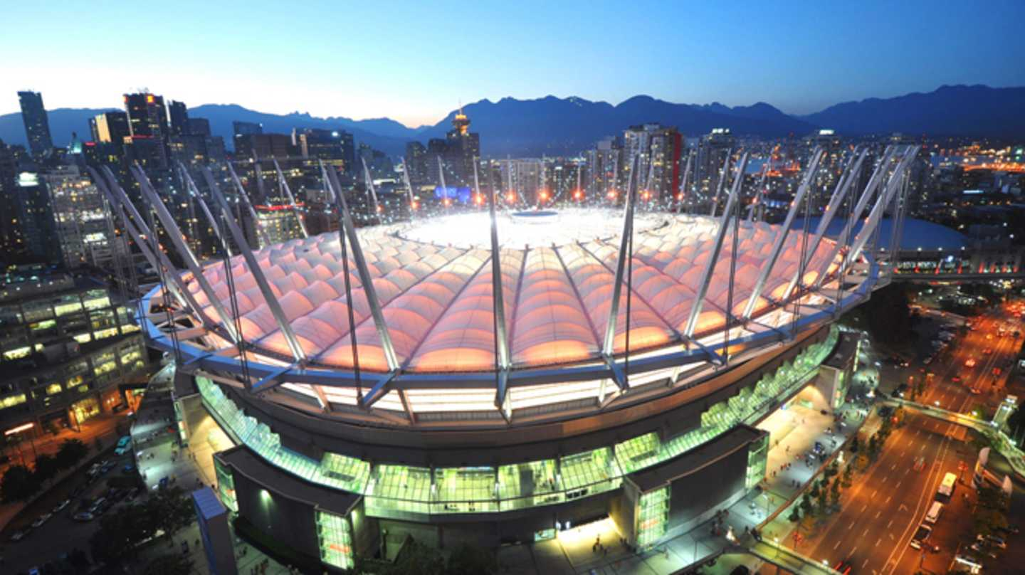 Webcam areal shot BC Place