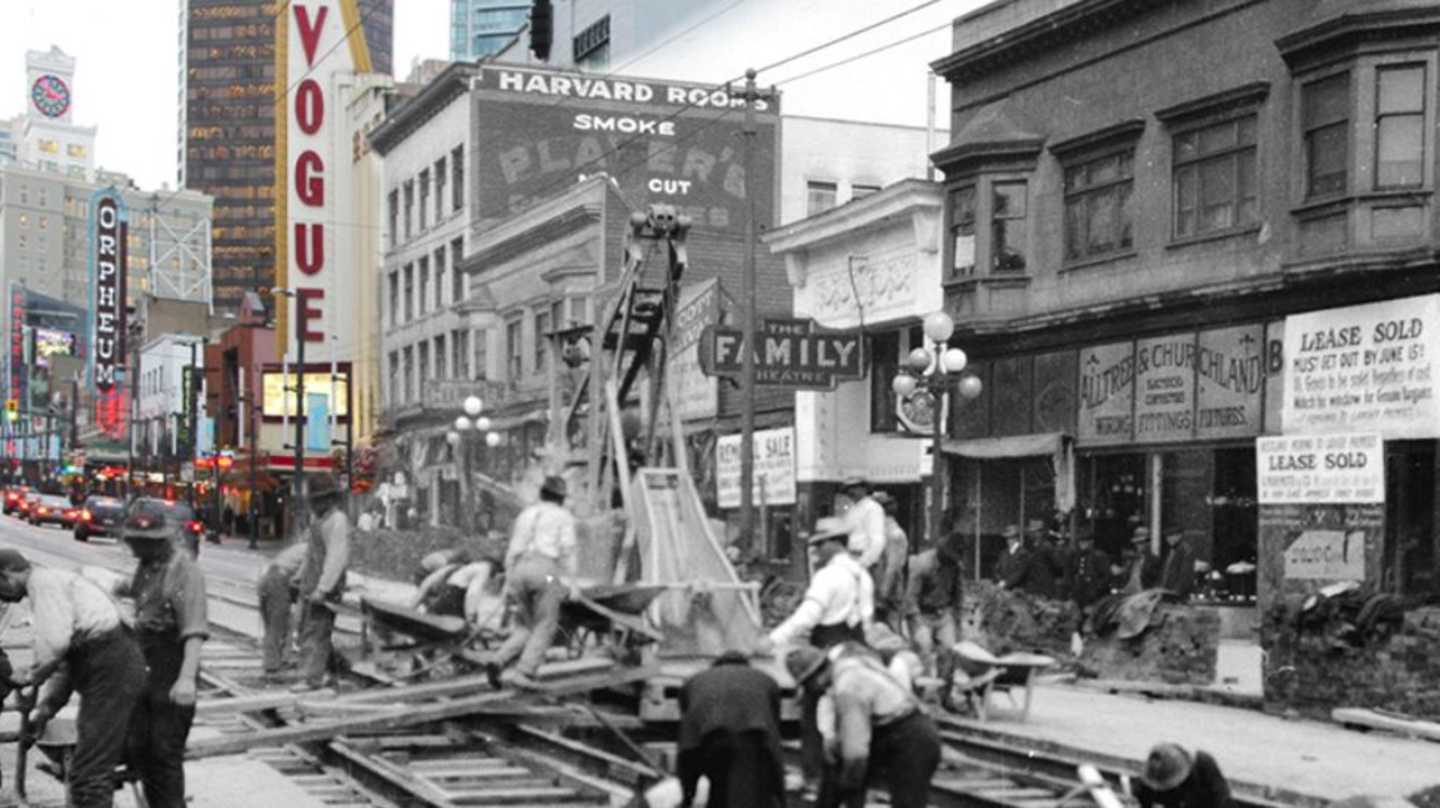 Granville Street | On This Spot and Vancouver Archives