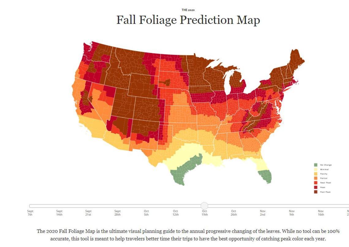 Fall Foliage Prediction Map 2020