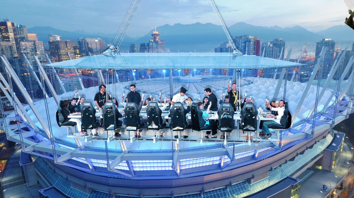 DINNER IN THE SKY TAKES VANCOUVER DINING TO NEW HEIGHTS
