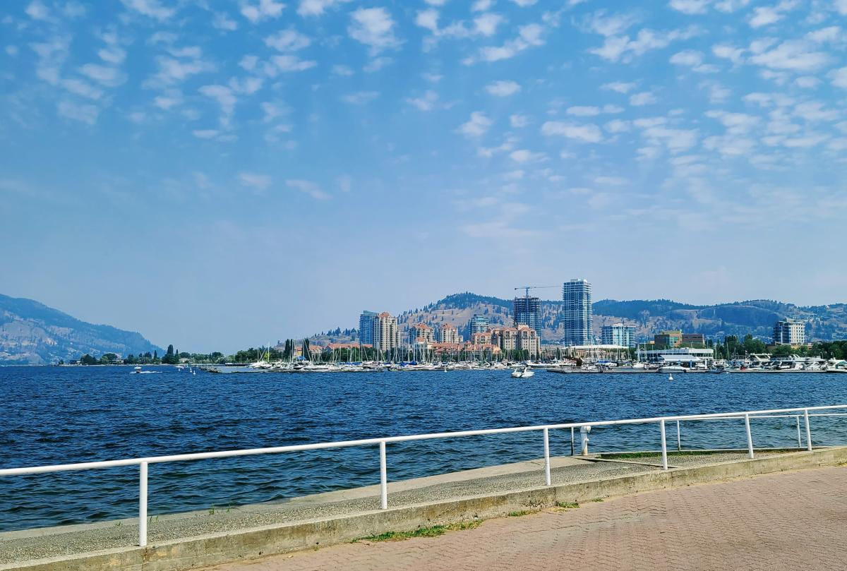 Downtown Kelowna from City Park