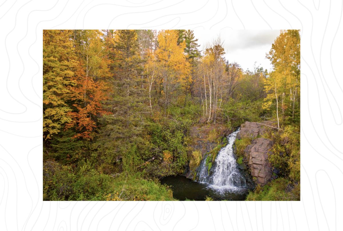 Warner Falls in the fall