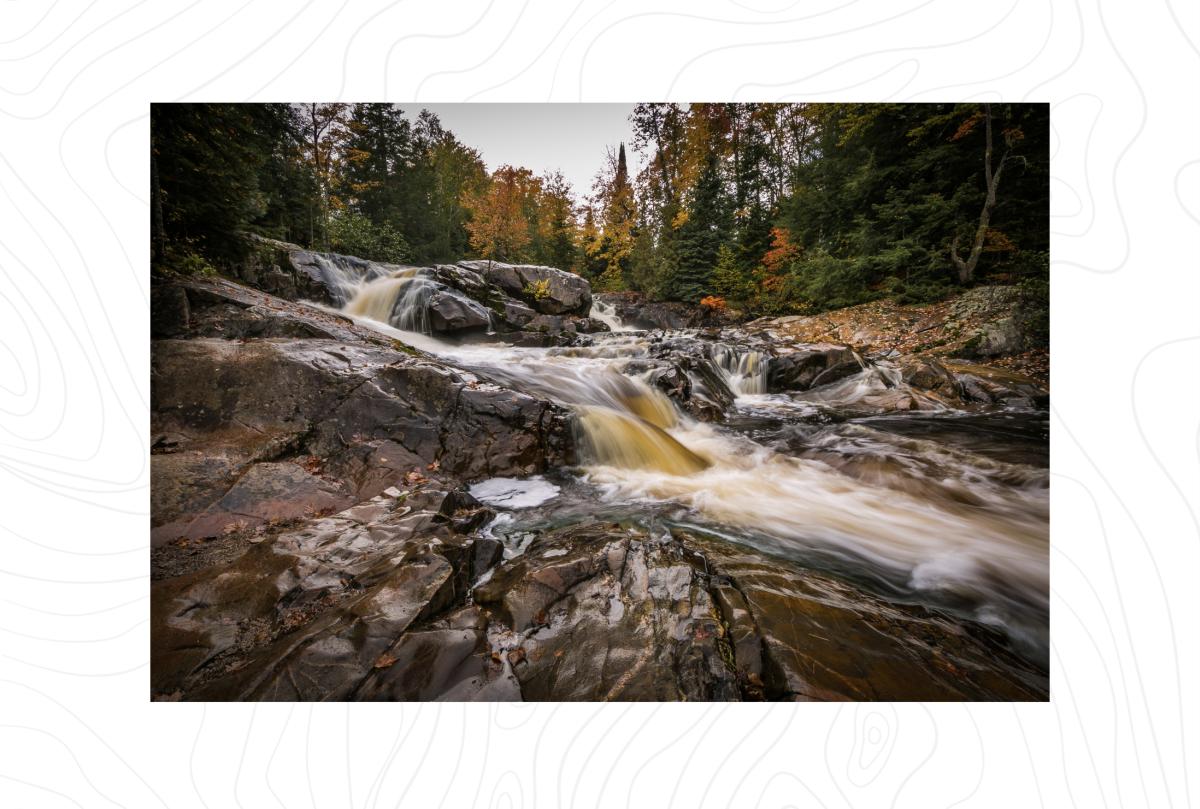 Yellow Dog Falls in the fall