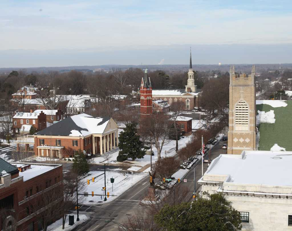 Downtown Salisbury Snow