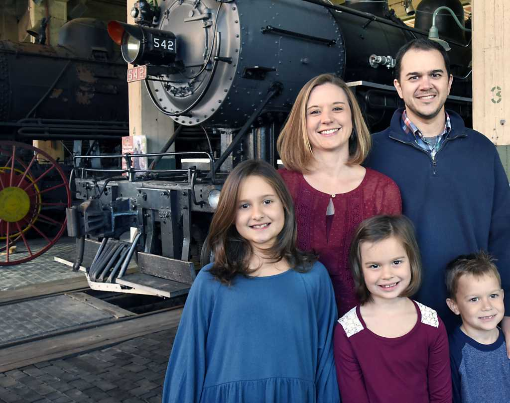 Family enjoying the Transportation Museum