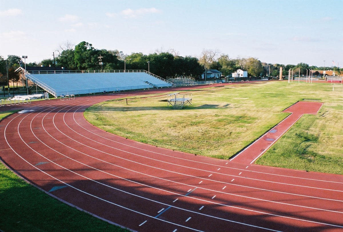 Track field at Lamar University in Beaumont, TX