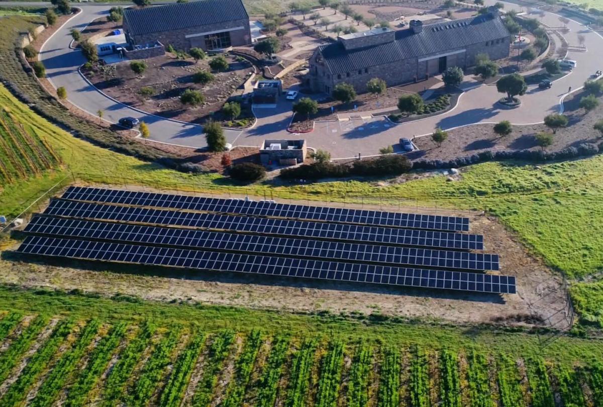 Niner Wine Estate Solar Panels LEED Certified Winery