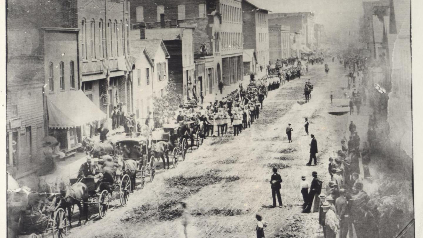Corning Market Street in 1885