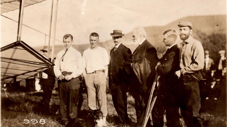 AEA group with Glenn Curtiss and Alexander Graham Bell courtesy Glenn H Curtiss Museum