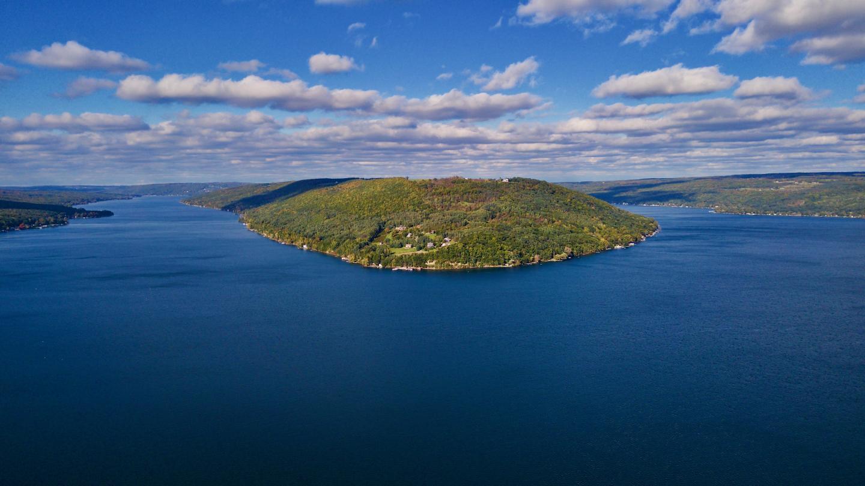 Drone Keuka Lake Fall