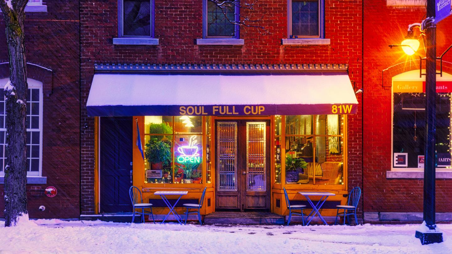 Soul Full Cup Winter Charming Small Town