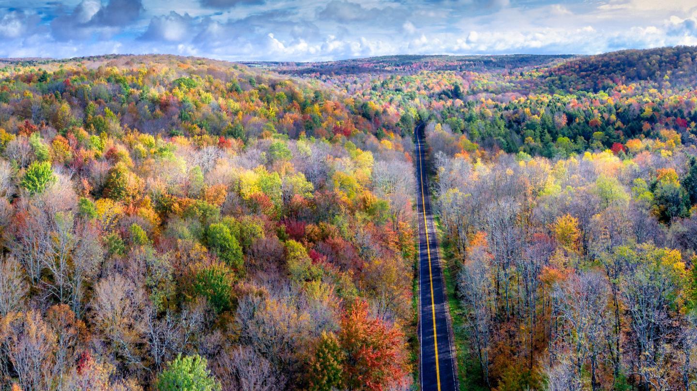 Corning area fall countryside foliage