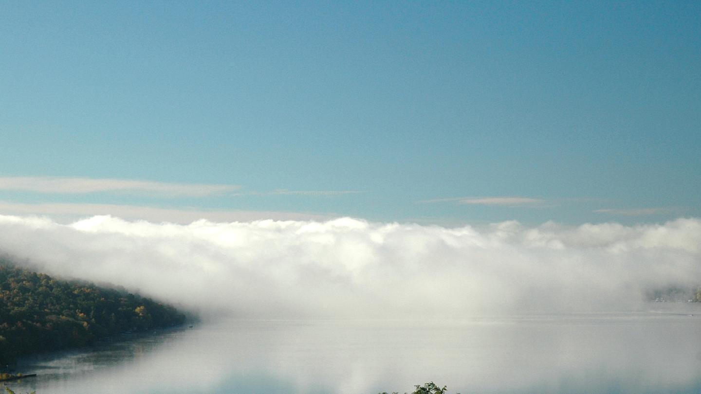 Foggy Fall Morning Keuka Lake