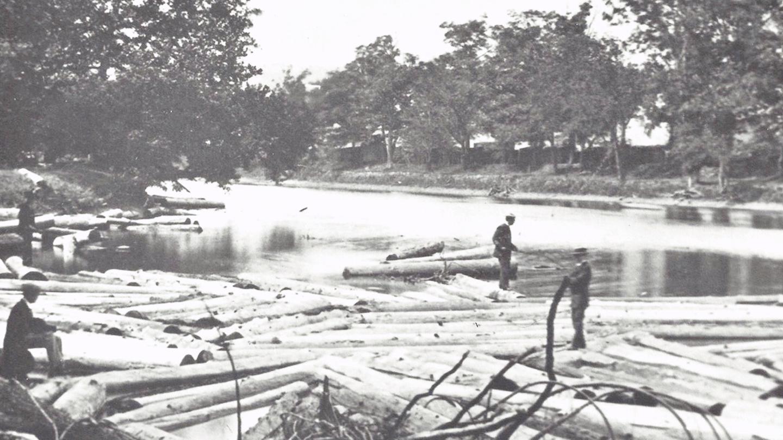 lumber history Gang Mills Chemung River Chemung Canal