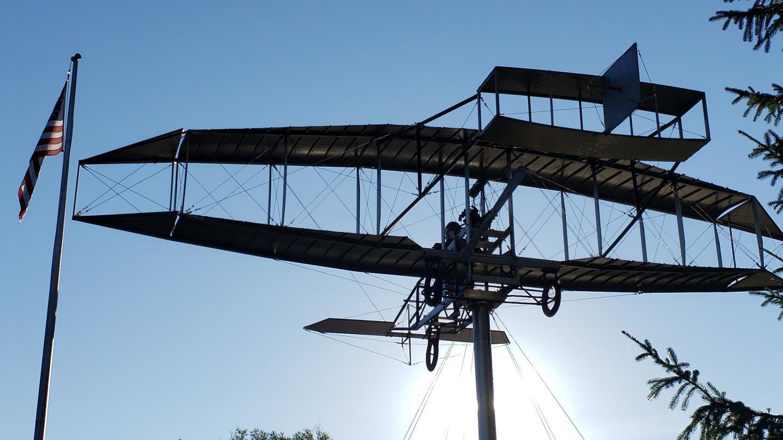 Biplane Sculpture