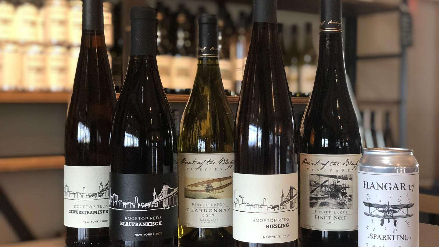 Wines at Point of the Bluff Vineyards