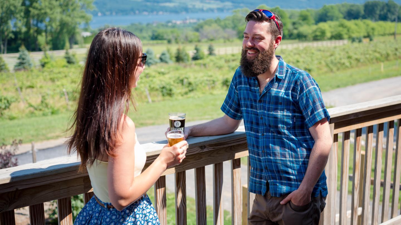 Outdoors Tasting Abandon Brewing Company