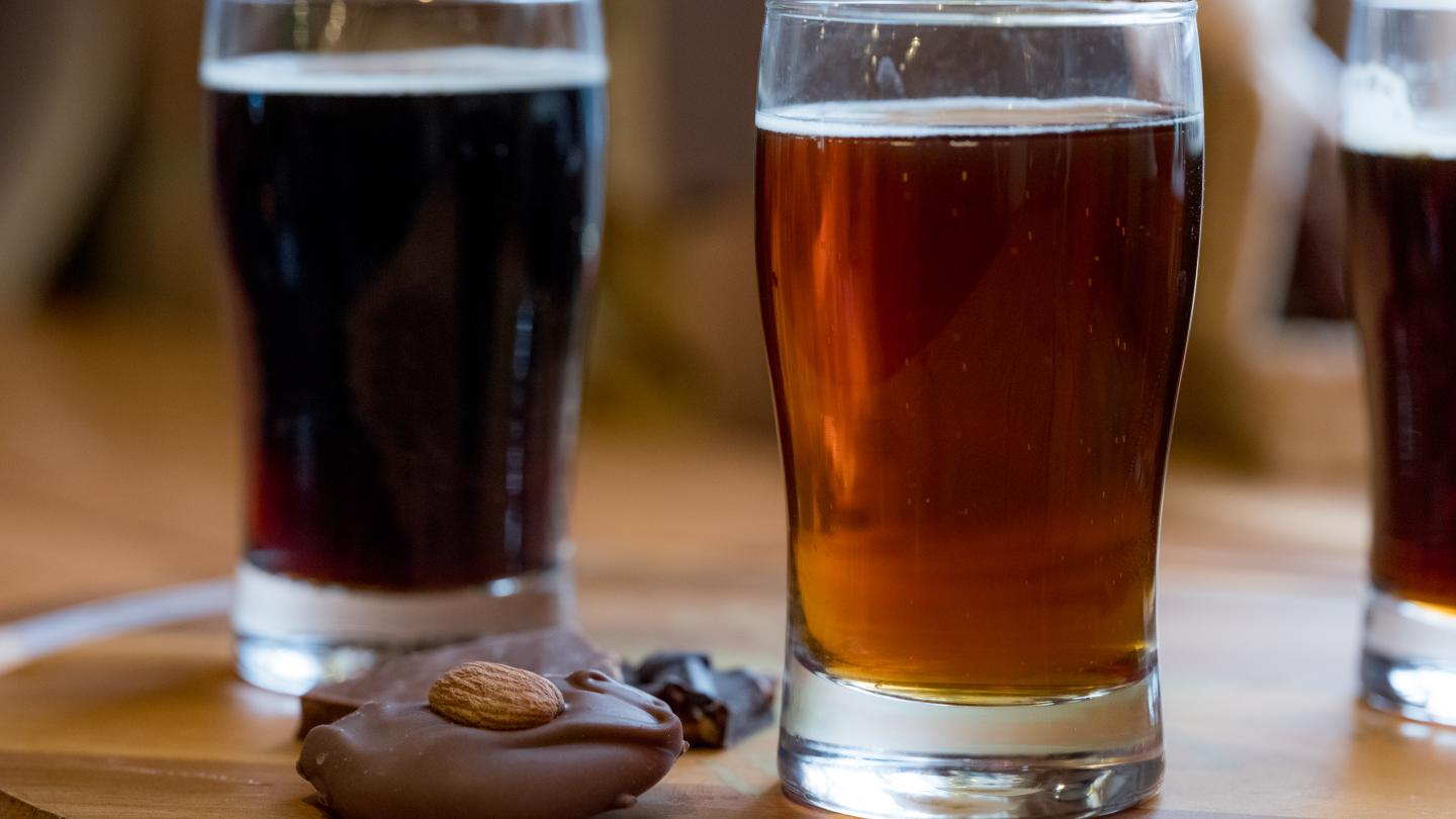 Beer and Chocolate pairing courtesy of Molly Cagwin