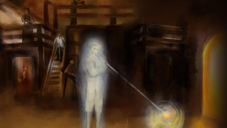 Phantom Boy Blowing Glass Bubble