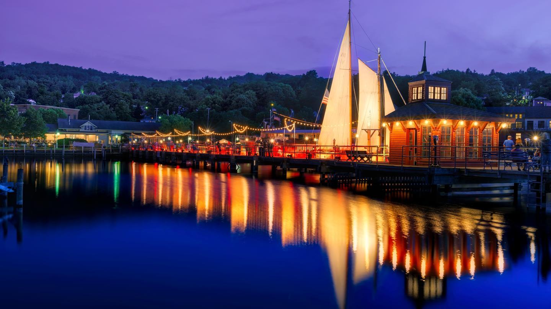 Sailboat in Seneca Lake Harbor
