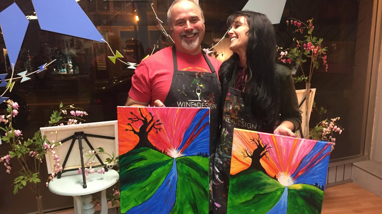 Winter Wine & Design Hands-on Painting