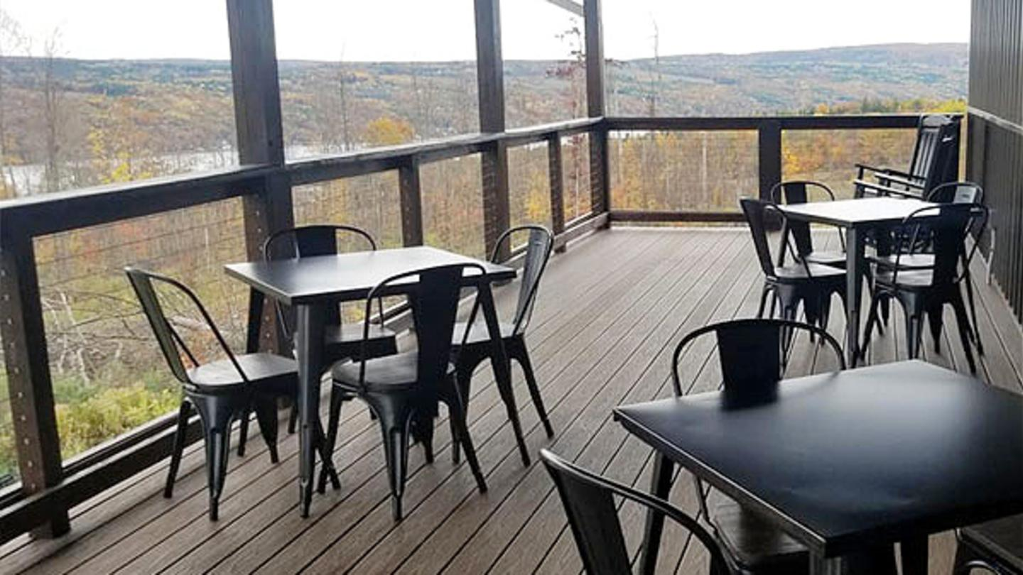 Finishing Touches Outdoor Deck at Barrelhouse 6 Distillery