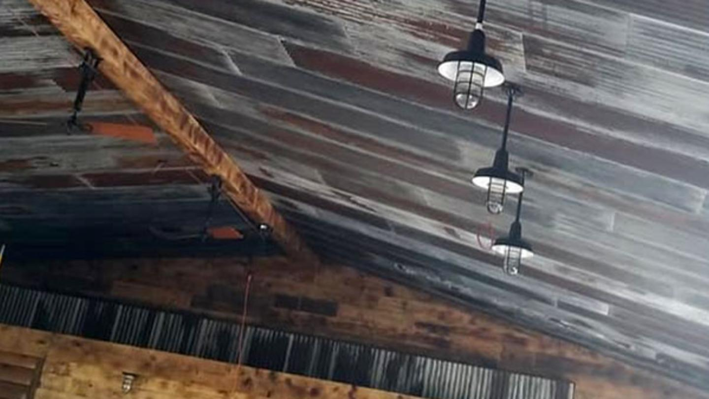 Finishing Touches Ceiling at Barrelhouse 6 Distillery
