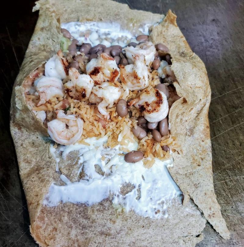 Tacos Mi Rancho Shrimp Burrito