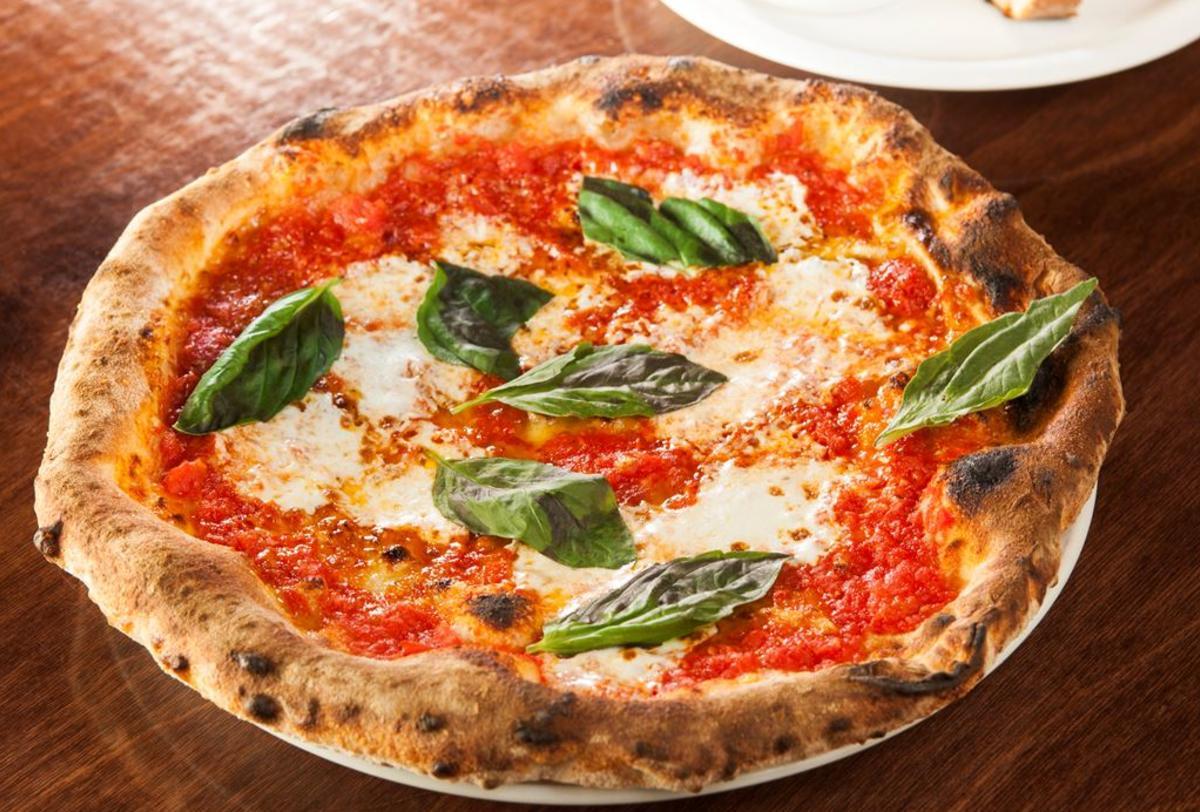 A classic margherita pizza at Pizza Brutta in Madison