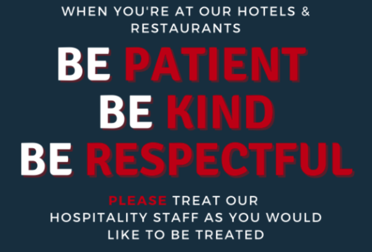 """Campaign Reminds Customers to """"Be Patient, Be Kind, Be Respectful"""""""