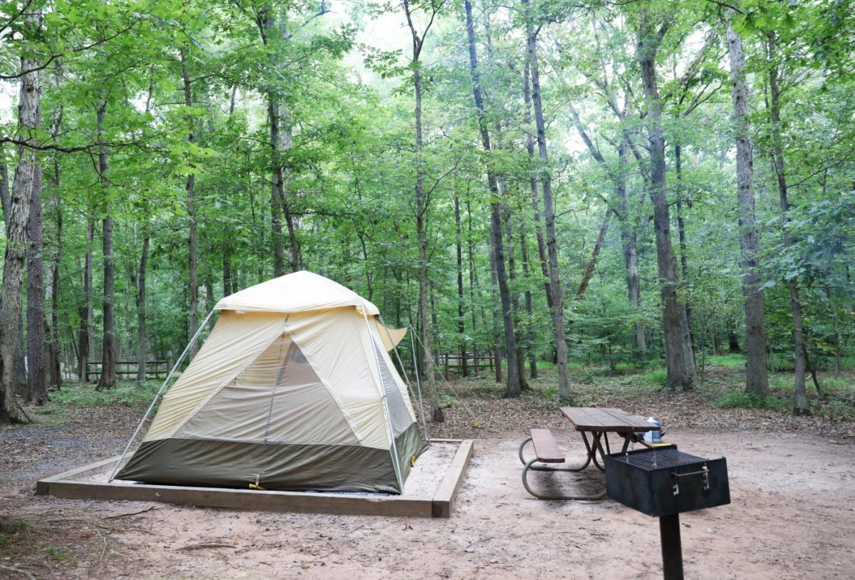 Camping at Bull Run Regional Park