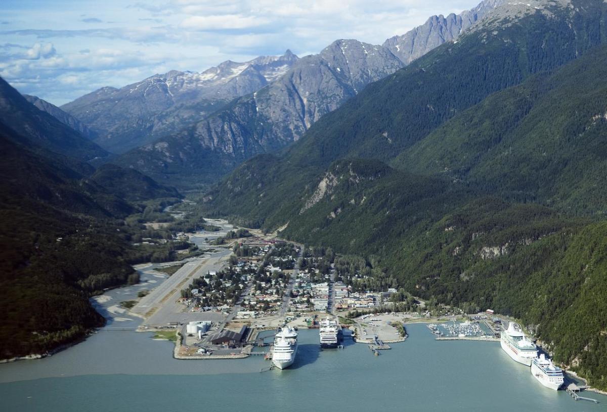 Skagway aerial view
