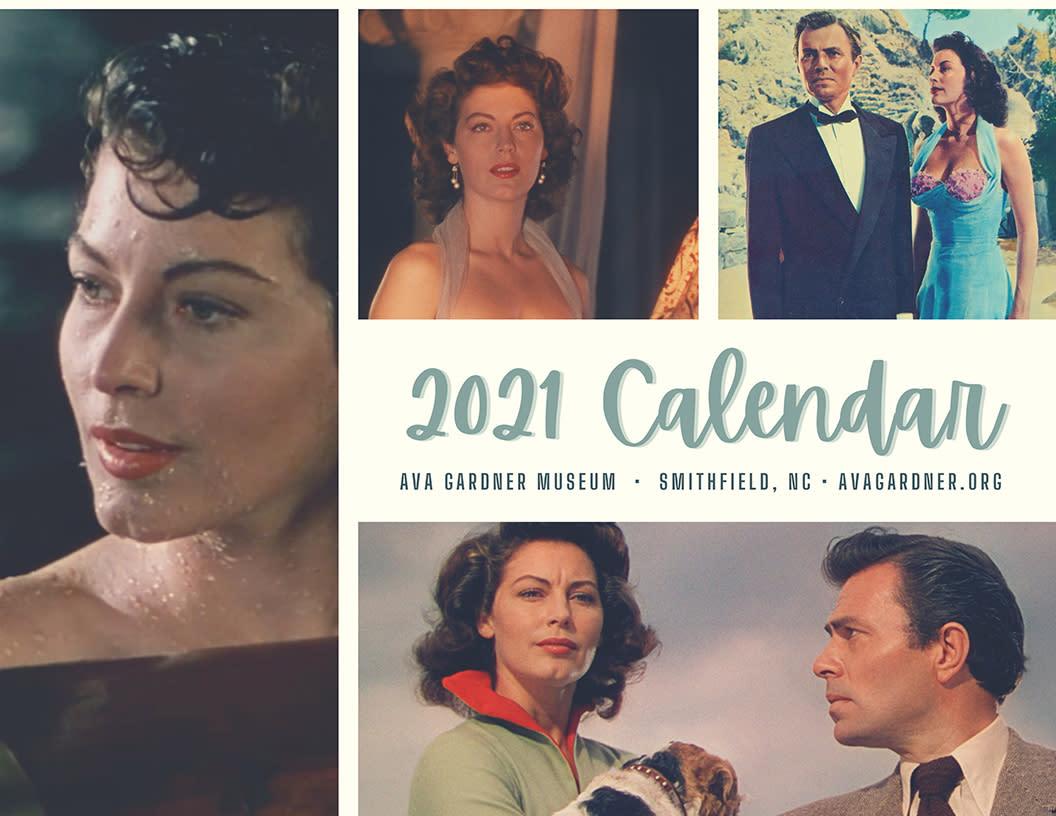 Cover of the 2021 Ava Gardner Calendar.