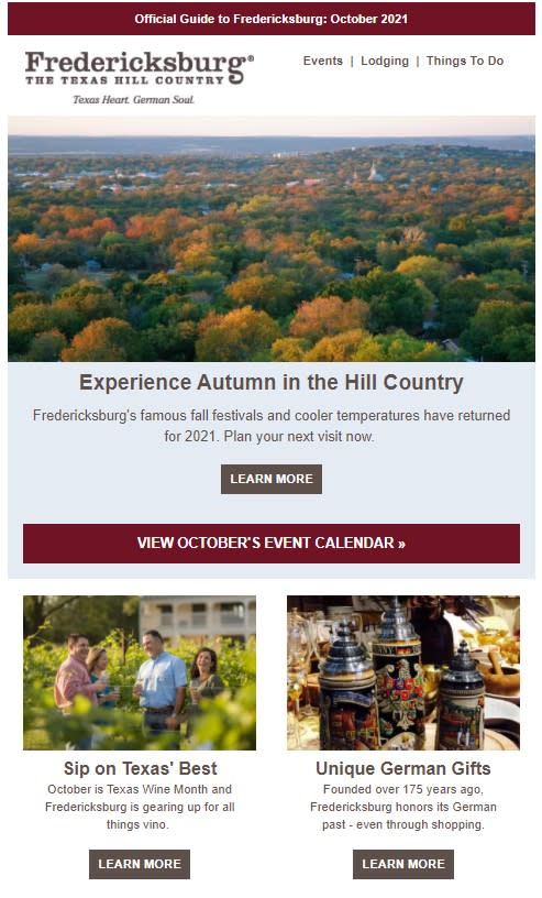 Celebrate the Fall in Fredericksburg