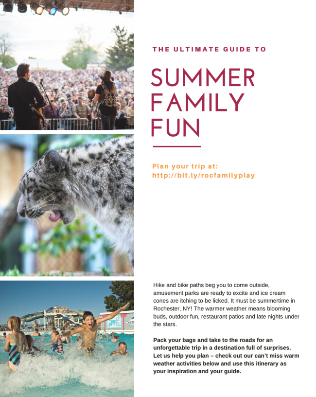 Rochester Family - Summer Fun Itinerary