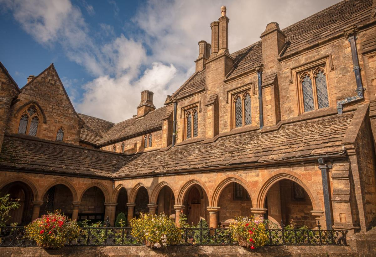 Exterior and garden of Almshouse in Sherborne