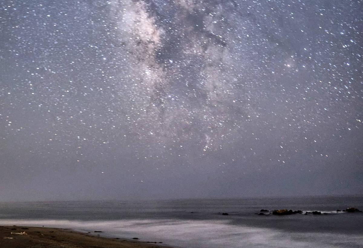 Milky Way Over Moonstone Beach in SLO CAL