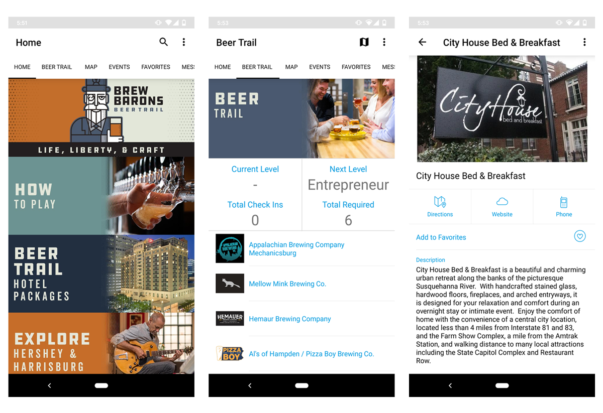 Brew Barrons Trail App - VisitApps