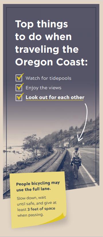 Oregon Coast Bike Route Brochure