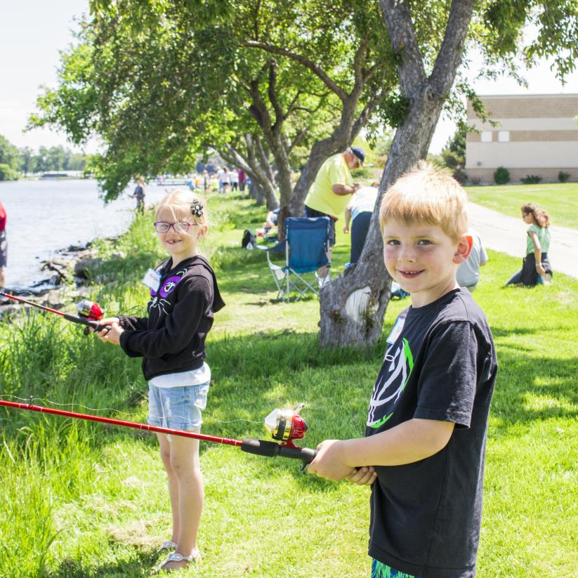 Summer Outdoors Children Kids Fishing